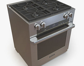 Miele HR 1924 DF 30 Dual Fuel Range 3D model
