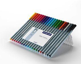 Staedtler Triplus Fineliner Pens 3D model