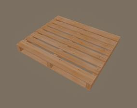 Wood Pallets 3D model realtime