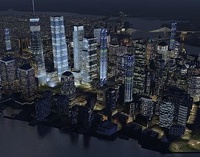 Manhattan Night 3D asset