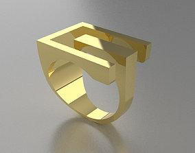 gold Angela Hubel Ring model