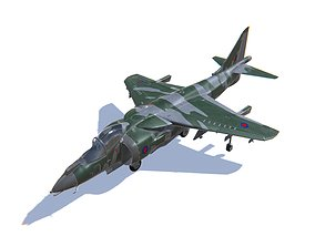 Harrier II 3D asset