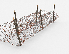 Barb Wire Obstacle poly 3D model