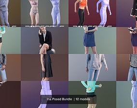 Ina Posed Bundle 3D model
