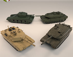 Low Poly Tank Pack 01 3D