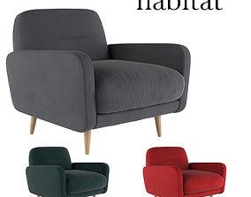 habitat ABEL armchair 3D model