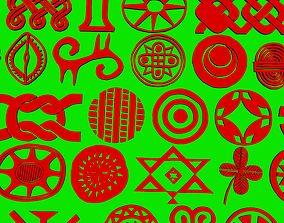 African ornaments 3D print model