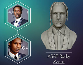 3D printable model ASAP Rocky Portrait sculpture