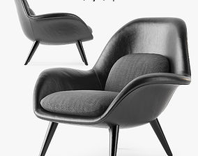 Fredericia Swoon armchair 3D