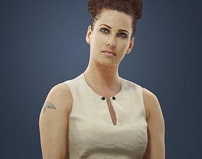 3D model Sitting Woman Yvette Caucasian Observing In An 1