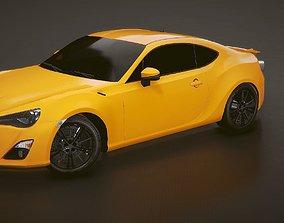 3D model Low-poly Sports car 20