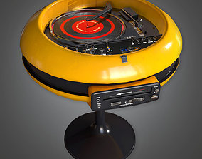 3D model MCN - Retro Record Player Stereo Midcentury 01 2
