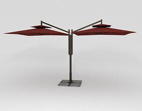 3D asset Double Patio Umbrella