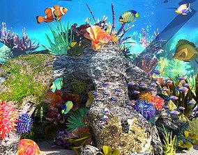 Aquariums Underwater World Aquarium Coral clown 3D