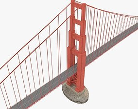 Golden gate bridge for game 3D model