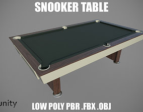 3D asset Snooker Table Low poly retro