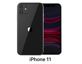 3D model Apple iPhone 11 Black