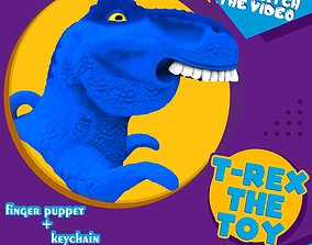 3D print model T-REX the toy finger puppet keychain covid
