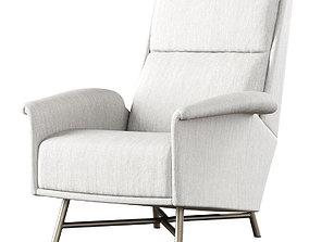 3D Carlo de Carli Pair of Chic Lounge Chair