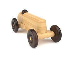 Wooden toy car 23 3D