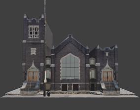 3D model low-poly Catholic Church