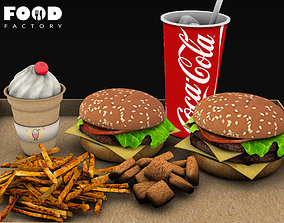 Fast food menu 3D asset