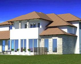 House 3D model fasade