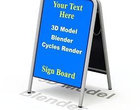 Street Sign A-form 3D