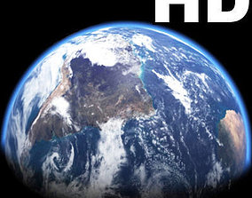 animated Incredible HD Earth Planet - 3d model