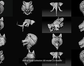 Animal head Collection 3D model