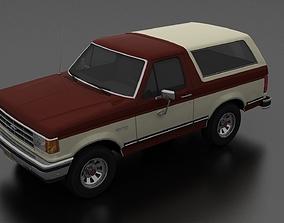 3D asset Bronco 1987