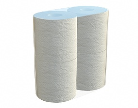 3D Toilet paper 4 pack small