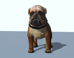 Animated 3D model of a bulldog animated