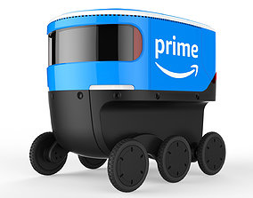 3D Delivery Robot Blue