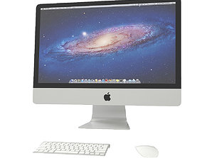 Apple iMac 3D model desktop