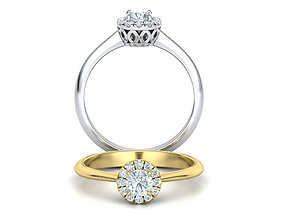 Vintage Style Halo Engagement ring 30pt main Stone