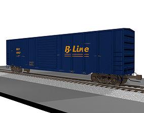 3D model Train Car - Boxcar - Cargo - C4D Format
