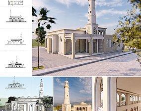 autocad Mosque 02 - 3dnikmodels
