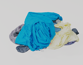 Pile of Clothes 3D Scanned Shirts game-ready