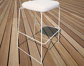 3D model rigged bar stool