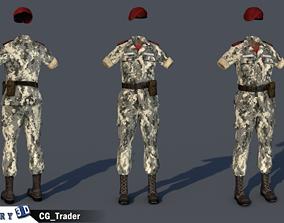 Military Female Costume 3d model game-ready