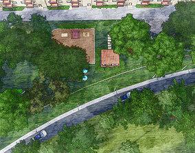 LANDSCAPE DESIGN AND VISUALIZATION OF A PARK 3D