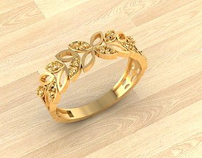 fashion-ring 3D print model Engagement Ring 2
