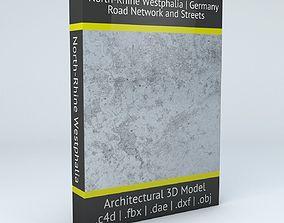 3D North Rhine Westphalia Road Network and Streets