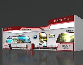 Booth Exhibition Stand Stall 16x4m Height 450 3D model 3