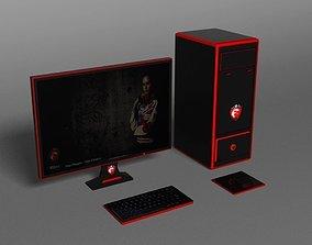 MSI Gaming PC 3D model