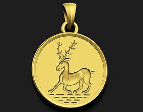 3D printable model Deer Engraving Pendant