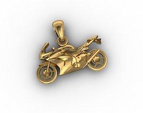 Motorcycle pendant 3D print model
