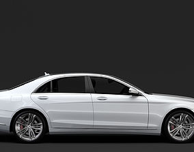 3D model Mercedes Benz S 560 Lang 4MATIC V222 2018