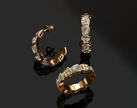 diamond-ring Ring and Earrings 3D print model
